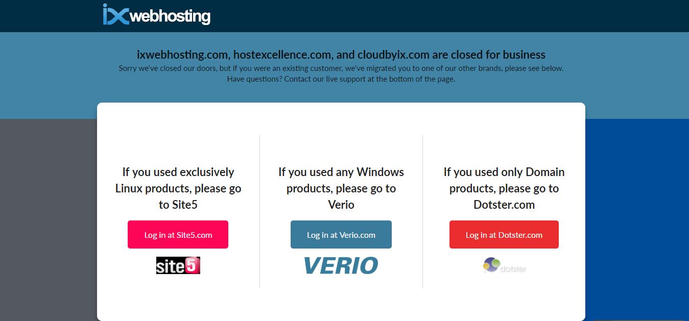 IX webhosting
