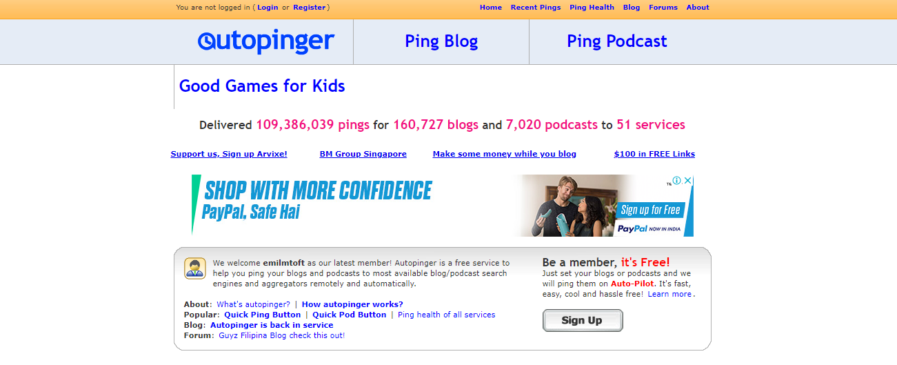 Top 10 Sites to Ping Blog or Websites | InfoBeat com