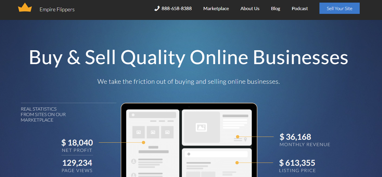 Buy A Website >> Top 10 Best Online Marketplaces To Buy And Sell Websites