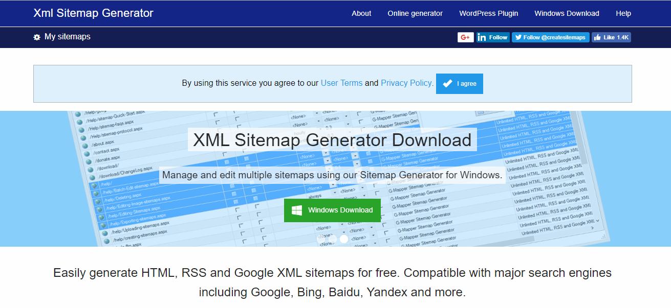 XML site generator