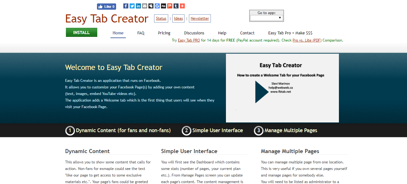 easy tab creator
